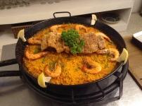 Paella with Bagnet Pio's kitchen