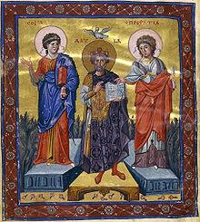 Byzantine silk art