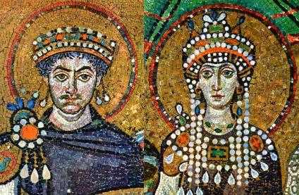 Emperor Justinian I and Empress Theodora
