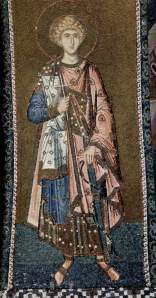 Byzantine silk fashion mosaic