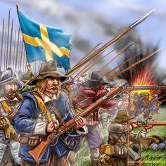 Swedish army in battle