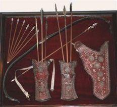 Mongol bow and arrow set
