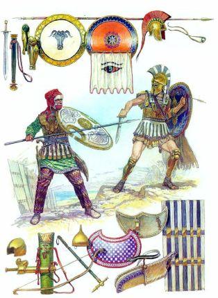 Greek vs Persian weaponry