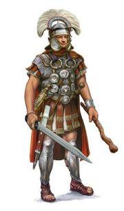 Roman Centurion with a Vitis staff