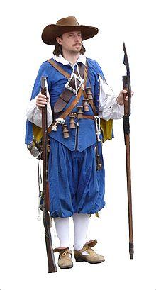 Swedish musketeer re-enactor