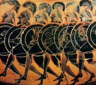 Greek Hoplites with shields