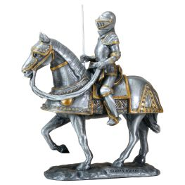 Knight on an armored horse