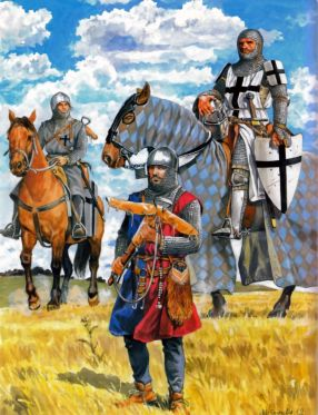 Teutonic Knights ride to battle (with squire)