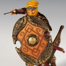 Immortal figure with wicker shield