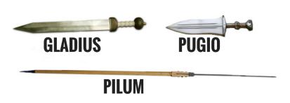 Basic Roman weapons