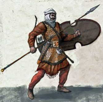 Persian Immortal with a spear