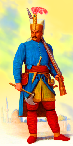 Ottoman Janissary with rifle