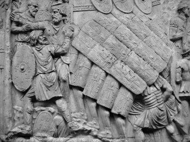 Depiction of Legionnaires in Trajan's Column, Rome