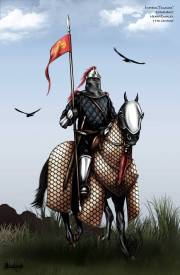 Cataphract and horse in full armor