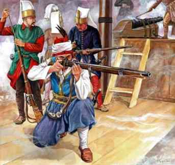 Janissaries with firearms