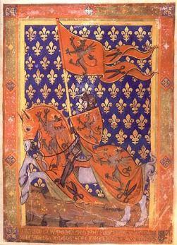 Knight in a medieval manuscript