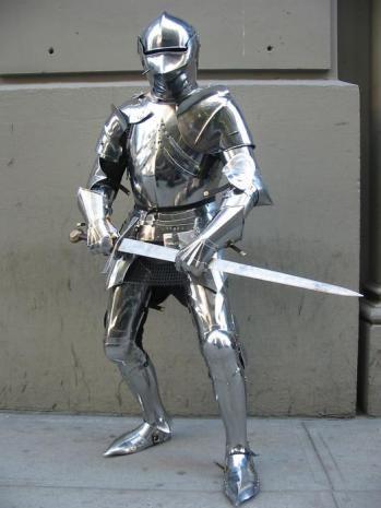 French knight in full armor