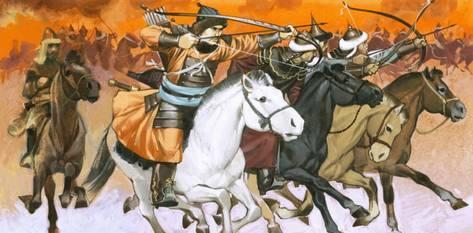 Mongol cavalry warriors, 13th century
