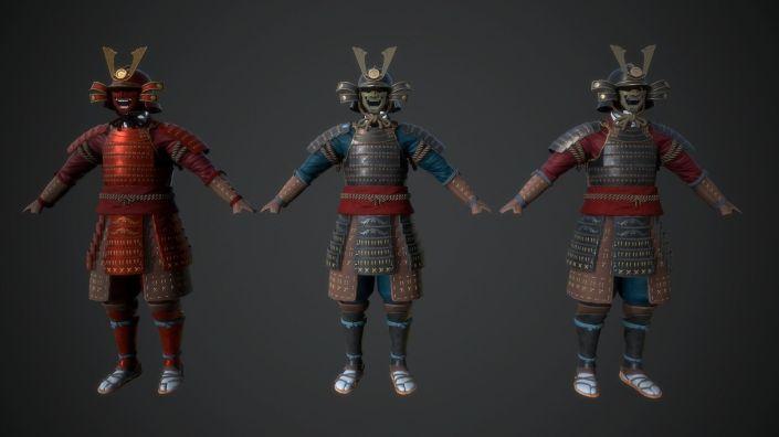 samurai-armor-3d-model-low-poly-obj-mtl-3ds-fbx-dae-X-x3d