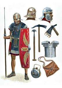 Equipment of a Republican Roman legionnaire