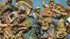 Trajan's Column colorized showing Auxiliaries