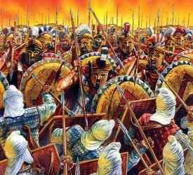 Battle of Thermopylae (300 Spartan Hoplites vs Persians)