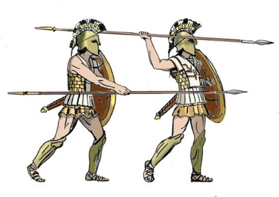Hoplites with their spears (Dory)