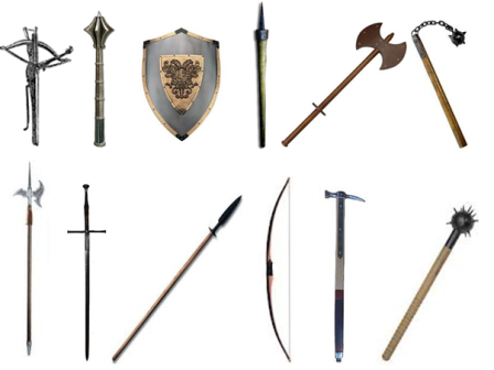 Knight's other weapons