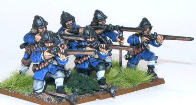 Swedish armored musketeers