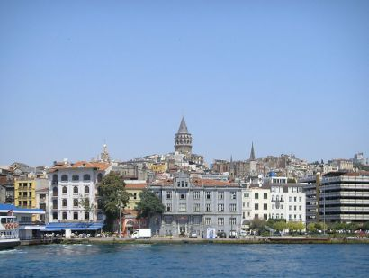 Galata district in modern day Istanbul
