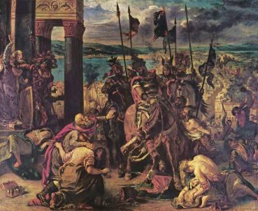 Baldwin I of Flanders captures Constantinople, 1204