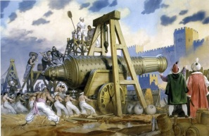 The massive cannon of Orban used by the Ottomans