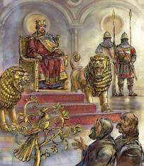 Mechanical throne and lions of Constantine VII