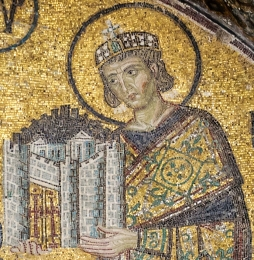 Constantine I the Great, the first Byzantine emperor (324-337), founder of Constantinople