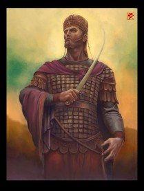 Constantine XI Palaiologos, the last Byzantine emperor (r. 1449-1453), son of Manuel II and Helena Dragas