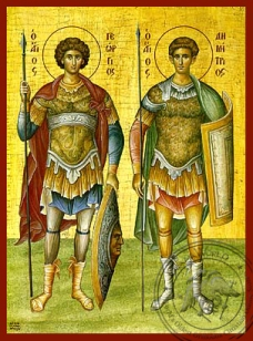Icon of St. George and St. Demetrios