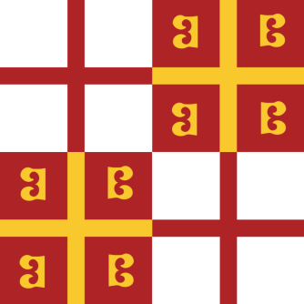 Flag of Byzantine Constantinople (Byzantine-Genoese cross-over)