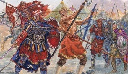 Nordic Varangian guards serving Byzantium