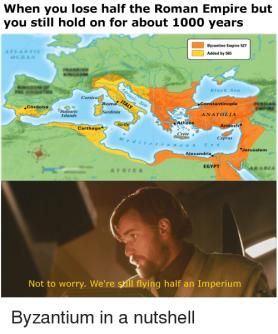 Meme of the Eastern/ Western Empires