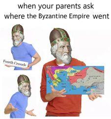 Meme of Enrico Dandolo and the 4th Crusade