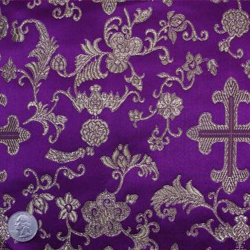 Byzantine purple silk