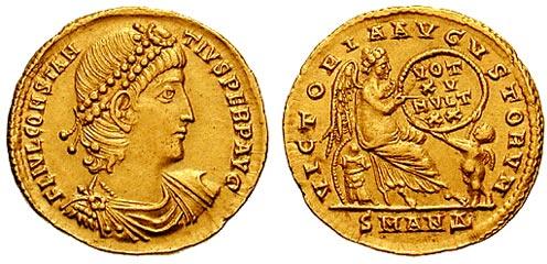 Gold solidus of Constantius II