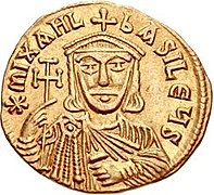 Gold solidus of Michael II the Amorian