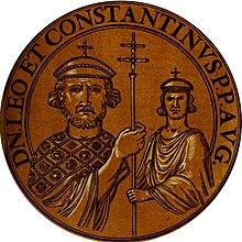 Leo IV and his son Constantine VI