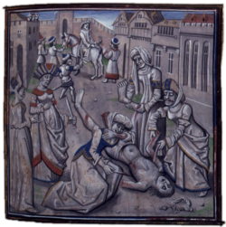 Execution of Andronikos I in the Constantinople Hippodrome, 1185