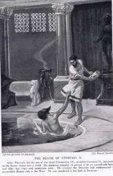 Death of Constans II in his bath, 668