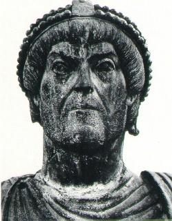 Emperor Valentinian I (r. 364-375), emperor of the west
