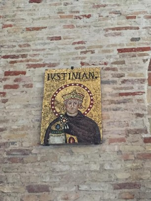 Portrait of Theodoric (overplayed by that of Justinian)