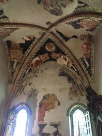 Medieval frescoes at San Giovanni Evangelista