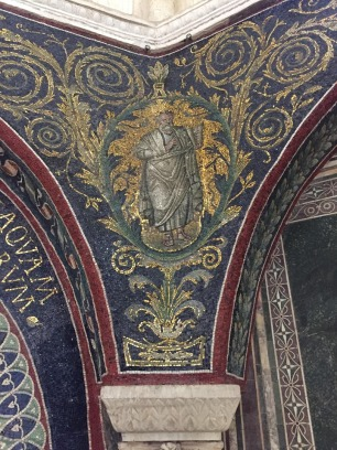 Corner mosaics at the Orthodox Baptistery